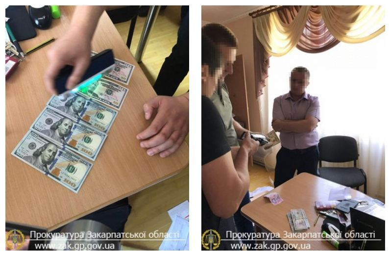 Закарпатська прокуратура викрила свого працівника на отриманні $600 хабара