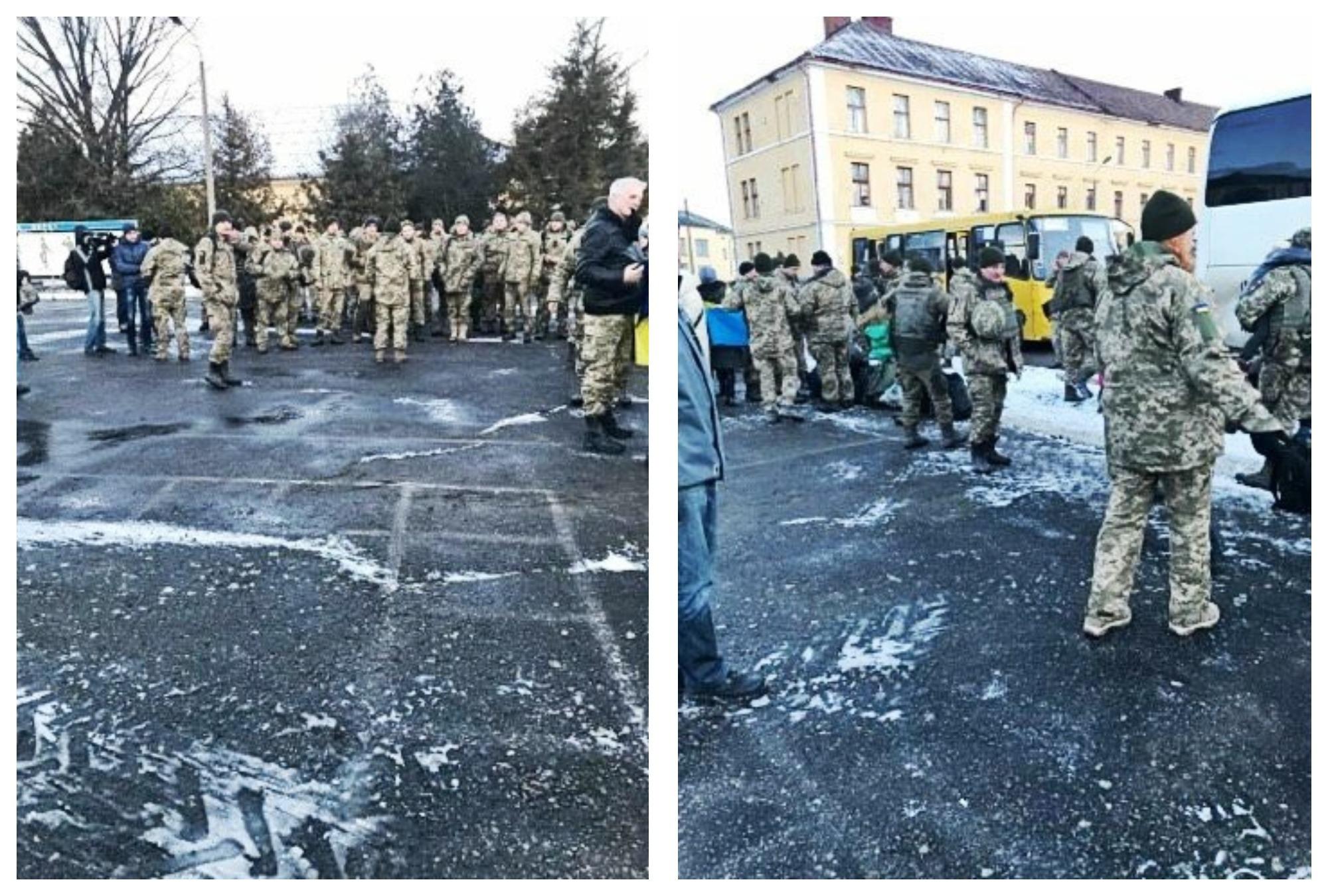 В Ужгороді зустріли 15 батальйон 128-ї бригади (ФОТО)