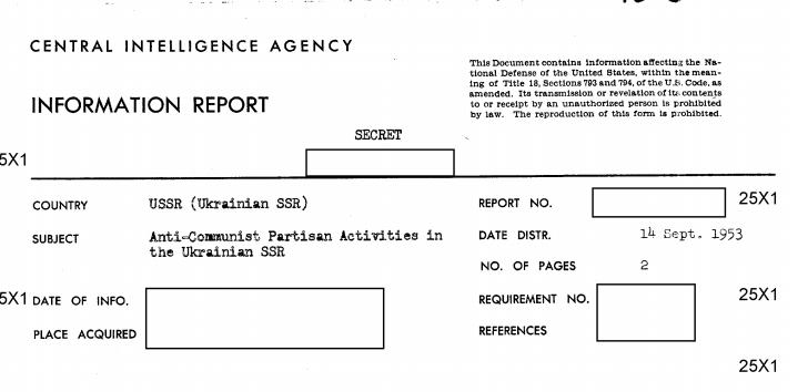 Із архіву ЦРУ: партизани-націоналісти до середини 50-х вбивали комуністів на Ужгородщині