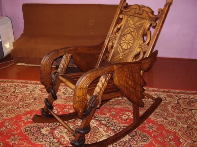 Старинное кресло качалка своими руками 3
