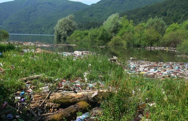 Мешканці сіл Прикарпаття звозять сміття на облаштовані зони для відпочинку