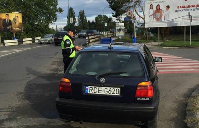 """В Ужгороді почалось """"полювання"""" на таксистів -пересічників (ФОТО)"""