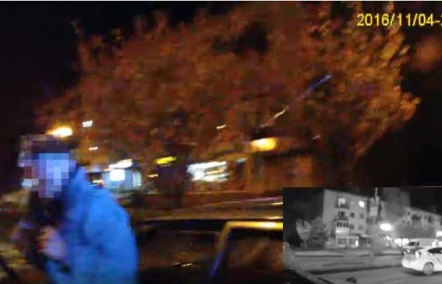 """Поліція оприлюднила відео затримання """"гонщика"""", якого доганяли з Мукачева аж до Ужгорода (ВІДЕО)"""