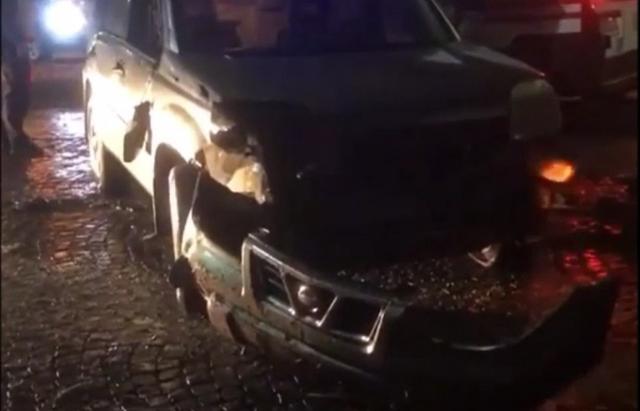 ДТП в центрі Іршави: автівка влетіла в стовп (ФОТО, ВІДЕО)