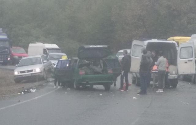 ДТП на Виноградівщині: зіткнулися «Славута» та вантажівка «MAN» (ФОТО)