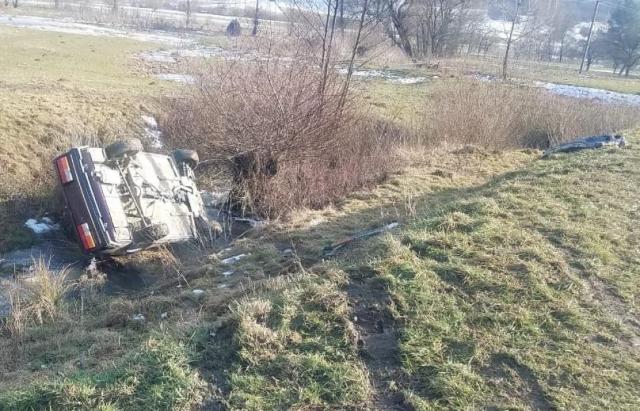 ДТП на Тячівщині: ВАЗ збив двох дітей та злетів з дороги (ФОТО)