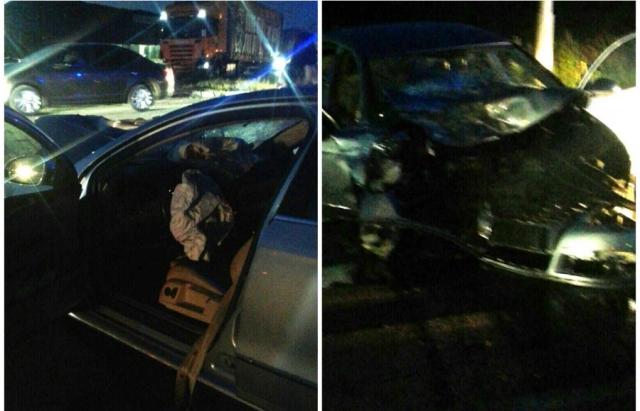 Чергове ДТП на Закарпатті: зіткнулися Volkswagen B6 та вантажівка Scania