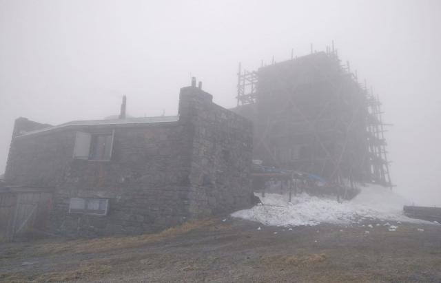 На високогір'ї Карпат зранку знову падав сніг (ФОТО)