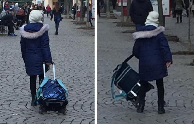Тягар знань  через навантаження батьки купили школярику ранець на колесиках  (ФОТО) f301aa58dd35c