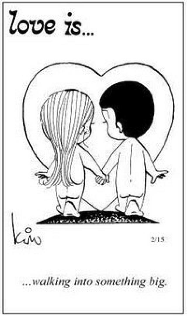 Черно-белая любовь рисунок