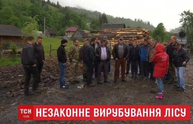 Спецоперація СБУ в Брустурянському лісгоспі обернулася протестами селян (ВІДЕО)