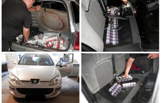 Закарпатські прикордонники виявили у машині 18-річного словака 450 пачок цигарок