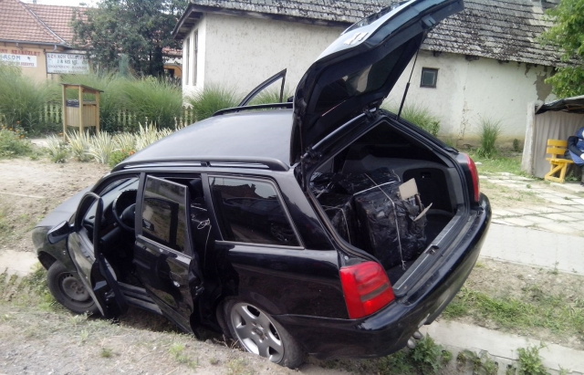 Український контрабандист на автомобілі повним сигарет потрапив у аварію в Угорщині
