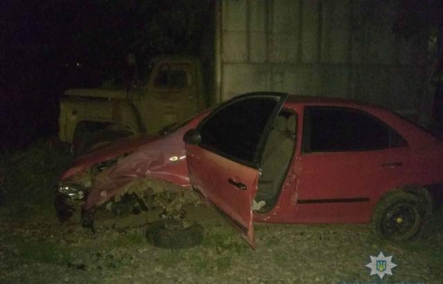 На Свалявщині молодик вчинив ДТП і ховав машину, бо був п'яний
