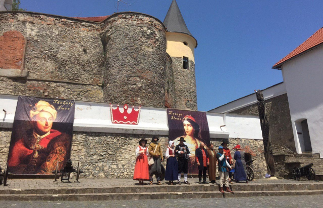 Як в замку Паланок проходила реконструкція весілля Ілони Зріні та Імре Текелі (ФОТО, ВІДЕО)