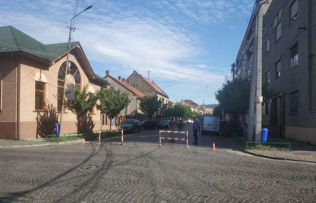 У Мукачеві перекрили вулицю Маргітича (ФОТОФАКТ)
