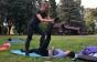 Дві мукачівки проводять у парку фітнес-тренування для всіх бажаючих (ФОТО)