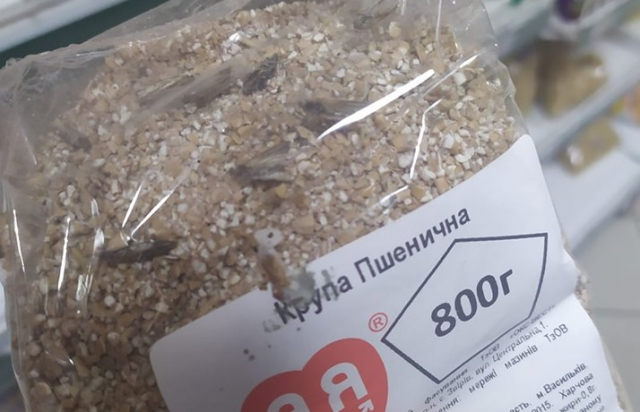 """Супермаркети в Берегові продають продукти з живими """"родзинками"""" в середині (ФОТО)"""