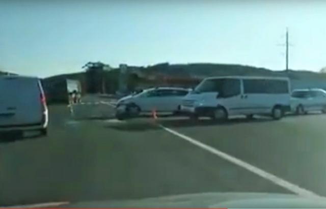 ДТП у Мукачеві потрапило на камеру відеореєстратора (ВІДЕО)