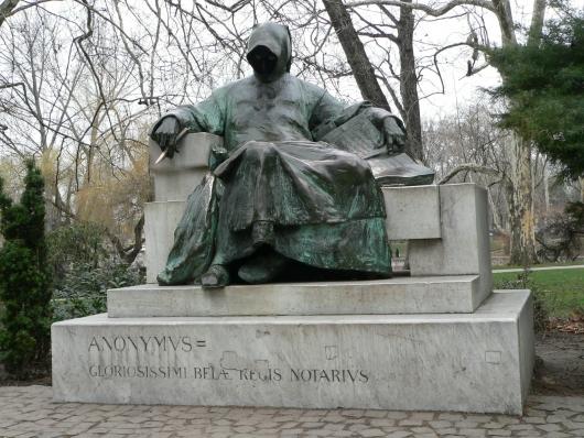 Пам'ятник Аноніму у Будапешті